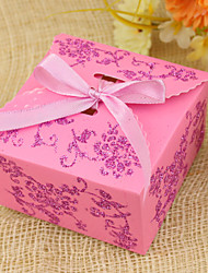 Cuboid Favor Holder With Ribbons Favor Boxes-12 Wedding Favors
