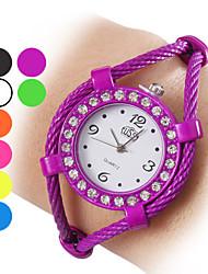 economico -Per donna Orologio alla moda Orologio braccialetto Quarzo Lega Banda Brillanti A schiava Nero Bianco Blu Arancione Verde Viola Giallo Rose