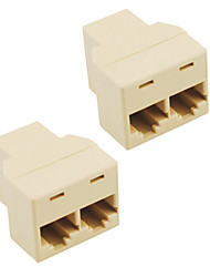 cheap -Socket Rj45 Splitter Connector Cat5 Cat6 Lan Ethernet Splitter  Adapter (2-Pack)