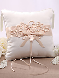 cheap -Elegent Satin Wedding Ring Pillow With Chinese Knot Wedding Ceremony