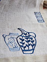 Set von 6 Tischsets Blue Linen Floral