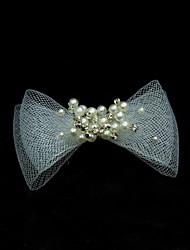 economico -copricapo di perle di capelli di tulle perla festa nuziale elegante stile femminile