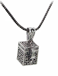cheap -Silver Plated Magic Box Shaped Alloy Necklace
