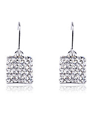 cheap -Wedding Korean Fashion Drill Square Drop Earrings Elegant Style