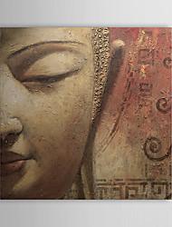 Ručno oslikana Ljudi Kvadrat Platno Hang oslikana uljanim bojama Početna Dekoracija Jedna ploha