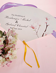 personalizirane biser papir rukom fan - slatki cvijet (set od 12)