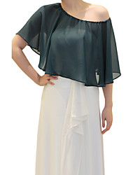 cheap -Sleeveless Chiffon Wedding / Party Evening With Capelets