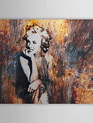 手描きの 人物 1枚 キャンバス ハング塗装油絵 For ホームデコレーション