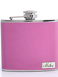 Gift Groomsman /Bridesmaid Personalized Pink 5-oz Flask