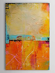 cheap -Hand-Painted Abstract Vertical, Classic Traditional Oil Painting Home Decoration One Panel