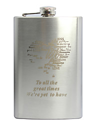 cheap -Groom Groomsman Parents Stainless Steel Hip Flasks Wedding Anniversary Birthday