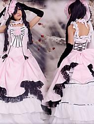 abordables -Inspiré par Black Butler Ciel Phantomhive Manga Costumes de Cosplay Costumes Cosplay Mosaïque Sans Manches Robe Gant Chapeau Pour