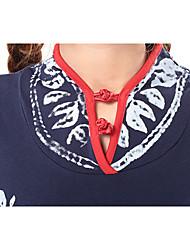 abordables -Trapèze Bretelles Fines Mi-long Mousseline de soie Robe de Demoiselle d'Honneur  avec Croisé Ruché par TS Couture®