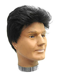 High Quality Synthetic Capless Short Straight Brown Men's Wig