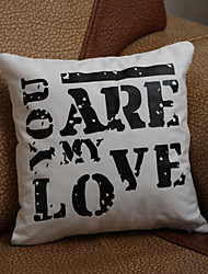 "cheap -Gifts Bridesmaid Gift ""You Are My Love"" Pillow Case (Pillow not included)"