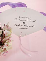 abordables -personnalisé perle ventilateur de papier à la main - fleur rose (lot de 12)