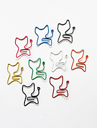 abordables -estilo gato colorido clips (color al azar, 10-pack)