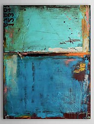 cheap -Oil Paintings Vintage Abstract Blue Color with Numbers  Hand-painted Canvas Ready to Hang