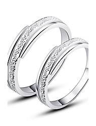 Hübsches 925 Sterling Silber Paare Ringe