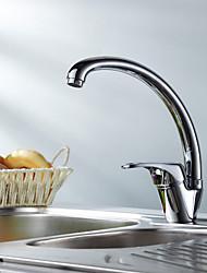 Traditionell Standard Spout deckenmontiert Keramisches Ventil Ein Loch Einhand Ein Loch for  Chrom , Armatur für die Küche
