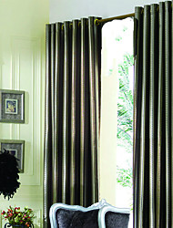 cheap -(Two Panels) Modern Brown Jacquard Lined Curtains