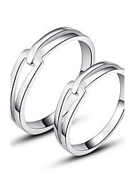 abordables -couples classiques en argent sterling 925 anneaux style féminin classique