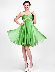 cheap -A-Line Princess Halter Sweetheart Knee Length Chiffon Cocktail Party Dress with Beading by TS Couture®