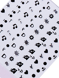 billige -5 pcs 3D Negle Stickers Smuk Negle kunst Manicure Pedicure Daglig Tegneserie / Bryllup / Mode / 3D Nail Stickers