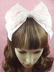 cheap -Lolita Jewelry Sweet Lolita Dress Headwear Princess Women's Pink Lolita Accessories Solid Bowknot Headpiece Cotton