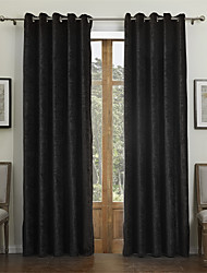 cheap -Two Panels Curtain Modern , Solid Dining Room 55% Cotton Chenille/45% Rayon Rayon Material Curtains Drapes Home Decoration For Window