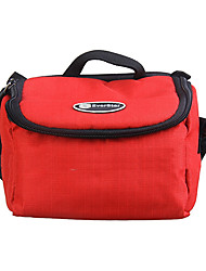 Ripstop Polyester Padded Soft Protective Carrying Bag Case for Digital Camera Large Size - Red