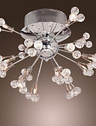cheap -MAISHANG® Flush Mount Ambient Light - Crystal, Modern / Contemporary, 110V 110-120V 220-240V Bulb Not Included