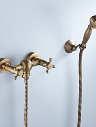 cheap -Shower Faucet - Artistic / Retro Antique Brass Mount Inside Ceramic Valve