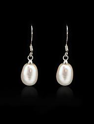 abordables -925 boucles d'oreilles en argent sterling avec perles d'eau douce de chute
