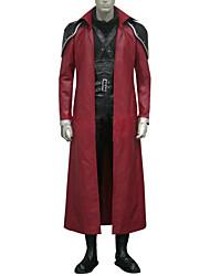 Ispirato da Final Fantasy Genesis Rhapsodos Video gioco Costumi Cosplay Abiti Cosplay Collage Nero / Rosso Maniche lungheMantello /