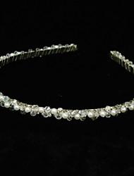 Mujer Diamantes Sintéticos Aleación Perla Artificial Celada-Ocasión especial Bandas de cabeza