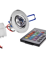 cheap -LED Ceiling Lights Recessed Retrofit 1 leds High Power LED 180lm RGB Remote-Controlled AC 85-265