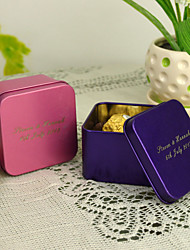 economico -Personalized cuboide Favor Tin - set di 12 (piu colori)