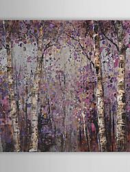 Pintados à mão Floral/Botânico Horizontal, Pastoril Tela de pintura Pintura a Óleo Decoração para casa 1 Painel