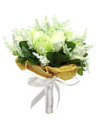Bouquet sposa Tondo Rose Bouquet Matrimonio Partito / sera Raso Cotone 24cm