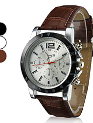 Men's Business Style PU Leather Band Quartz Wrist Watch (Assorted Colors) Cool Watch Unique Watch Fashion Watch