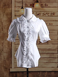 cheap -Sweet Lolita Dress Lolita Women's Blouse/Shirt Cosplay Short Sleeves