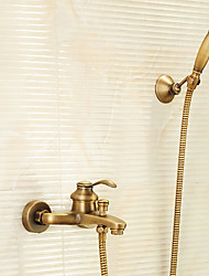 cheap -Shower Faucet - Antique Antique Brass Tub And Shower Brass Valve