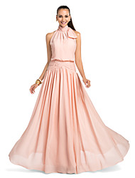 cheap -Sheath / Column High Neck Floor Length Chiffon Prom Dress by TS Couture®