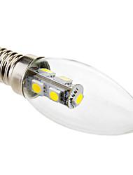 economico -6000lm E14 Luci LED a candela C35 7 Perline LED SMD 5050 Luce fredda 220-240V