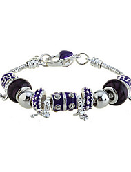cheap -Fashion Silver Plated With Multi Beads charm Bracelet Elegant Style