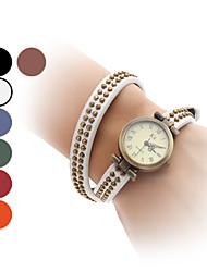 abordables -Mujer Reloj Pulsera Japonés Gran venta Banda Vintage / Brazalete / Moda Negro / Blanco / Azul / Un año / SSUO SR626SW