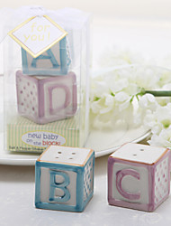 "cheap -""New Baby On The Block"" Ceramic Salt & Pepper Shakers Elegant Style"