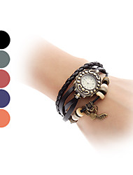 cheap -Women's Flying Heart Vintage Case Leather Band Quartz Analog Bracelet Watch (Assorted Colors) Cool Watches Unique Watches