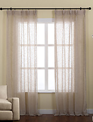 cheap -Two Panels Linen Poly Solid Sheer Curtains Drapes